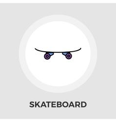 Skateboard flat icon vector