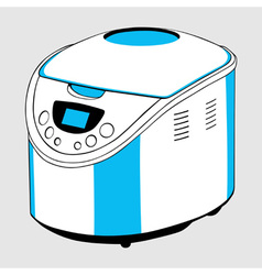 Electric bread cooker vector