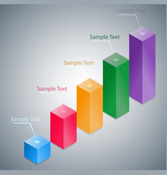 abstract 3d infographic histogram vector image