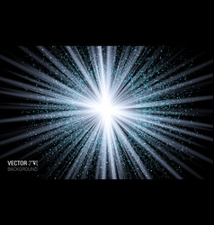 Abstract magic light blue burst effect design vector