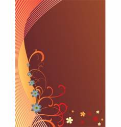 background and abstract floral vector image