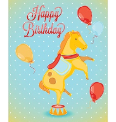 Birthday card horse vector image