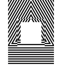 black and white stripes pattern background vector image vector image