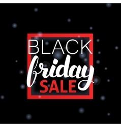 Black friday sale lettering in frame vector