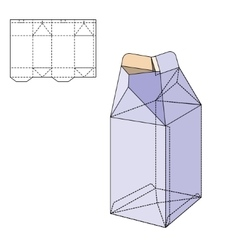 Box die line vector