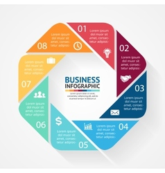 Business circle infographic diagram with options vector