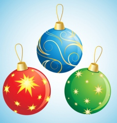 Christmas ball decoration vector image
