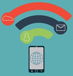 Concept of mobile technology Communication in the vector image