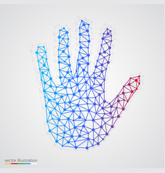 creative concept of the human hand vector image vector image