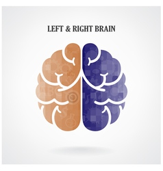 Creative left brain and right brain vector image vector image