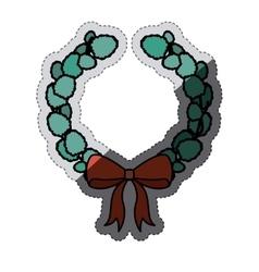 Crown of christmas season design vector