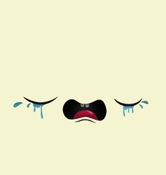cry baby vector image vector image