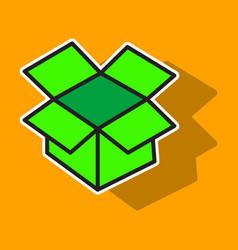 dropbox color icon realistic icon or logo sticker vector image vector image