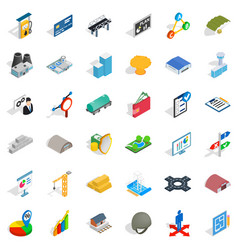 Gas station icons set isometric style vector
