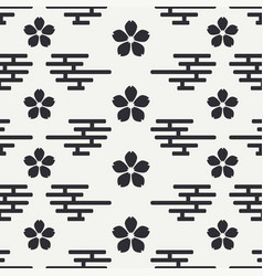 Geometric national seamless asian pattern vector