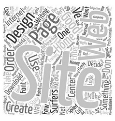 Good Web Site Design text background wordcloud vector image