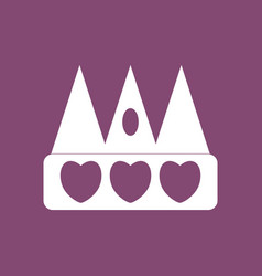Icon crown silhouette vector