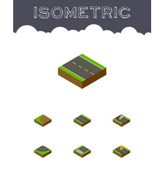 Isometric way set of navigation turning repairs vector