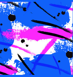 Neon splash brush stroke liquid bright vector