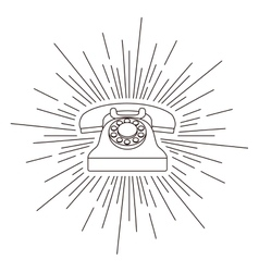 Old telephone poster isolated icon design vector