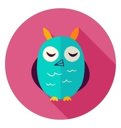 Owl circle icon vector