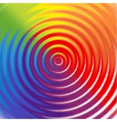 Rainbow background with circles vector image