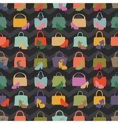 Silhouettes of handbagshoesseamless pattern vector
