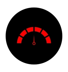 Speedometer sign Red icon vector image vector image