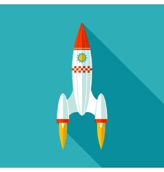 Start Up Concept Symbol Space Roket Ship Sky Icon vector image vector image