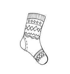 Warm winter socks vector