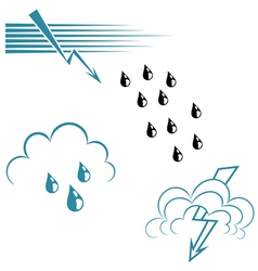 Weather Symbol Set vector image vector image