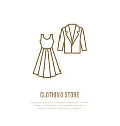 Wedding cocktail dress men suit icon clothing vector