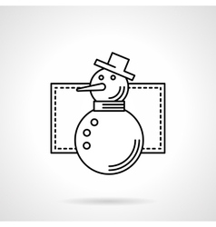 Wintertime symbol flat line icon vector