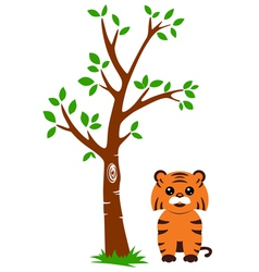 Tree and tiger vector