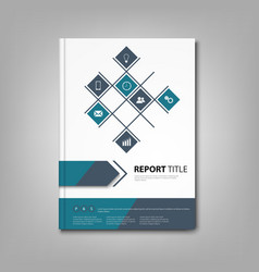 Brochures book or flyer with blue design info vector