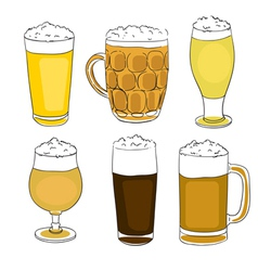 Beer pints series vector