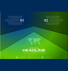 Green and blue corporate abstract brochure design vector