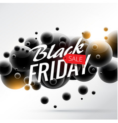 Black friday sale background with abstract 3d vector