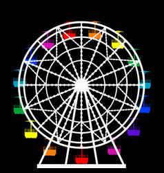 Colorful ferris wheel from an amusement park vector