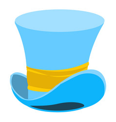 blue wizard hat the old mans headdress cylinder vector image