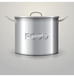 High aluminum saucepan vector