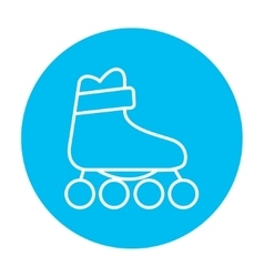 Roller skate line icon vector image