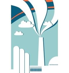 Outline industrial landscape vector