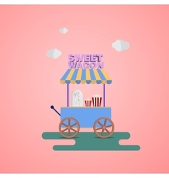 Sweet shop wagon vector