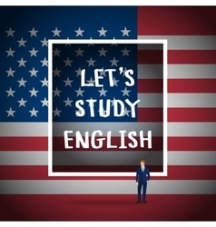 Concept of studying english vector