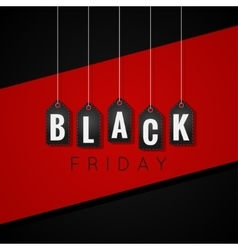 Black Friday sale tags on red line background vector image