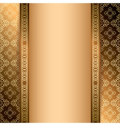 Bright brown ornamental background with gradient vector