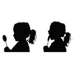 Child silhouette with lolipop vector