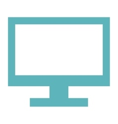 computer monitor icon vector image