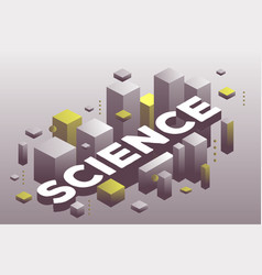 creative of three dimensional word science with vector image